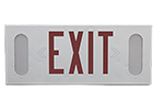 Vandal Resistant and Anti Ligature Emergency Exit Sign with Battery Backup