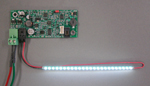 LED Backlight with I2C Programmable Brightness Controller and LCD Bias Voltage Supply